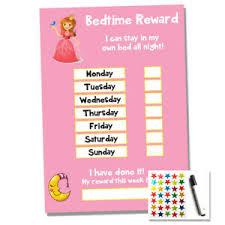 Details About Princess Bedtime Nightime Reward Chart Kids Child Sticker Star Sleep Own Bed
