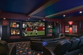 home theater art. created for famed builder aaron vitale, this striking state-of-the-art home theater comes with a 720p and 1080i resolution sharp hd projector that beams art