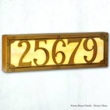 illuminated house number signs lighted sign numbers handmade family owned pertaining to prepare lighted house number signs