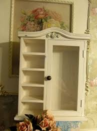 wall mounted curio cabinets small wall mount curio cabinet w glass door 5 shelves shabbyvintage style