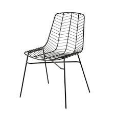 matte black openwork metal garden chair