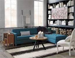 Peacock Living Room Vintage Living Room With Cb2 Reverb Black Rug And Peacock Blue