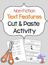 Non Fiction Text Features Cut and Paste | Text features definition ...