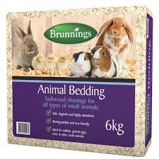 brunnings 6kg softwood shavings animal