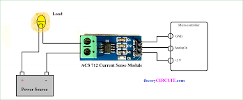 hall effect current sensor circuit arduino mains current sensor module