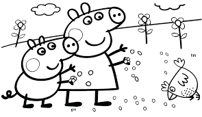 Peppa Pig Coloring Pages Birthday Pig Coloring Pages Book Games E