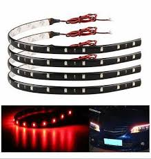 Universal Wireless Remote Control Car Motorcycle 4 Pcs Red LED ...