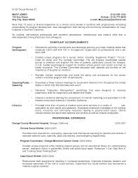 Sample Resume Social Work Student