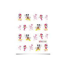 Vodolepky Na Nehty Zamilované Obtisky Mickey Mickey Ble1695