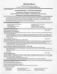 sample resume sales manager car sales resume example