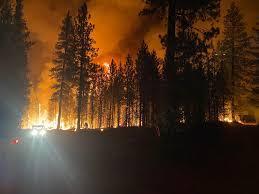 Oregon wildfires grow ...