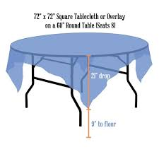 what size overlay for 60 round table tablecloth als linen sizing chart