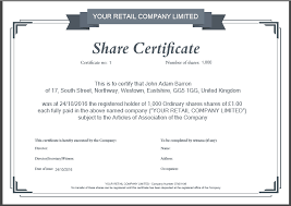 Template Share Certificate Share Certificate Template What Needs To Be Included