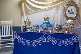 Blue And Gold Baby Shower Decorations Welcome Royal Prince Baby Shower Favors More Llc
