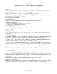 Resume Introduction Letter Letter Idea 2018