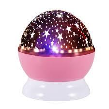 hogakeji romantis led lampu malam starry star moon sky rotation night lampu proyr lampu untuk anak