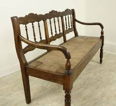 antique french chestnut rush seat bench in good condition for in port chester ny