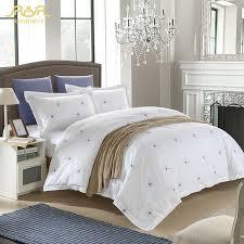 romorus beautiful hotel style bedding set 100 cotton white hotel duvet cover set elegant dandelion