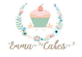 Premade Cake Logo Custom Logo Design Pastel Pink Purple Logo