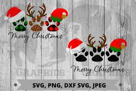 Download and upload svg images with cc0 public domain license. Merry Christmas Paws Graphic By Pit Graphics Creative Fabrica