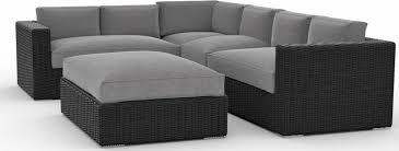 toja patio furniture yorkville 5 piece outdoor sectional sofa set with sunbrella cushions