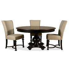 riverside 92651 926529265792657 williamsport 5 piece glass dining table with upholstered chairs