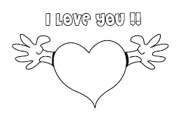 Love Heart Coloring Pages Running Downcom