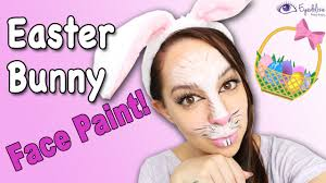 Small Picture Easter Bunny Face Paint Tutorial by EyedolizeMakeup YouTube