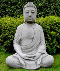 buddha garden statue. Delighful Garden Large Meditating Stone Cast Buddha In Buddha Garden Statue A