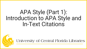 Apa Stle Home Apa Style Guide Ucf Research Guides At University
