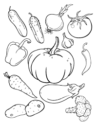 Small Picture Free Vegetables Coloring Page