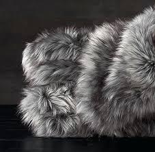 grey faux fur rug small silver uk