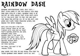 Rainbow Dash Coloring Pages Free Jokingartcom Rainbow Dash