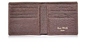brown shark skin leather goods previous bifold wallet