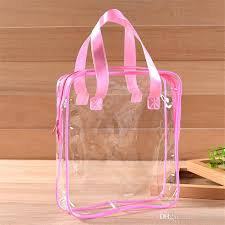 travel pvc cosmetic bags women transpa clear zipper makeup bags organizer bath wash make up tote handbags case lz1845 canada 2019 from easy deal