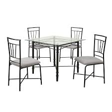 amazon dorel living 5 piece gl top metal dining set table chair sets