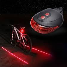 5 Led 2 Laser Waterproof Rear Bicycle Light Laser Tail Warning Lamp Flashing Rear Lamp Mtb Bike Light Mountain Bike Safety