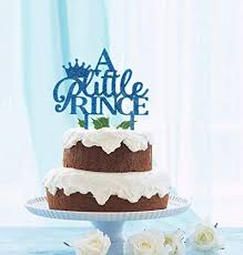 Jual Grantparty Little Prince With Crown Cake Topper Boy Baby
