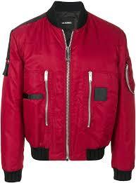 les hommes les hommes puffy pilot er jacket