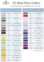 Dmc Color Chart 2018 Printable Printable Dmc Color Chart Dmc Floss Color Names Dmc