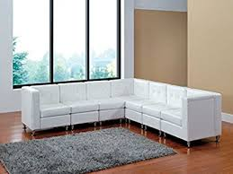 modern line furniture. Modern Line Furniture 9049W-G7 Modular Leather L-Shape Sectional Sofa Set With Restaurant T
