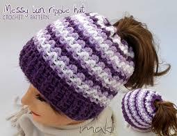 Bun Hat Crochet Pattern Classy Messy Bun Hat Crochet Pattern Maki Crochet Patterns