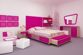 girls bedroom ideas pink. bright pink girl\u0027s room with striped bedspread and decor girls bedroom ideas d