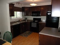 Kitchen With Red Appliances Red Kitchen Cabinets With Black Appliances Quicuacom Design
