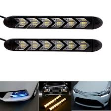 Knight Rider Running Light Xiufen 6leds Car Drl Turn Signal Waterproof Lights Styling
