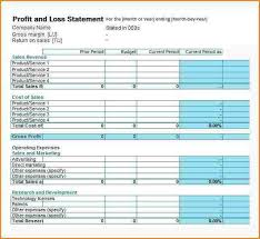 Profit And Loss Template Free Extraordinary Profit And Loss Statement For Self Employed Template