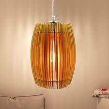 Decorative Hanging Light Fixtures Dllt Led Wooden Ceiling Pendant Light Fixture 8w Decorative Hanging Lamp With Adjustable Cord Chandelier Lighting For Restaurant Dining Room Living