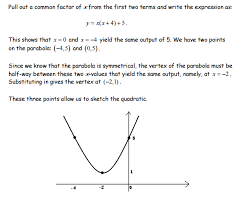 if we apply this method to our original example we rewrite y x2 6x 10 as y x x 6 10 we can see that two points on