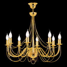 Chandelier Retro 8 Bulb Gold 120 Cm Suspension