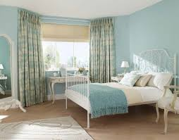 country style curtains light blue fl pattern